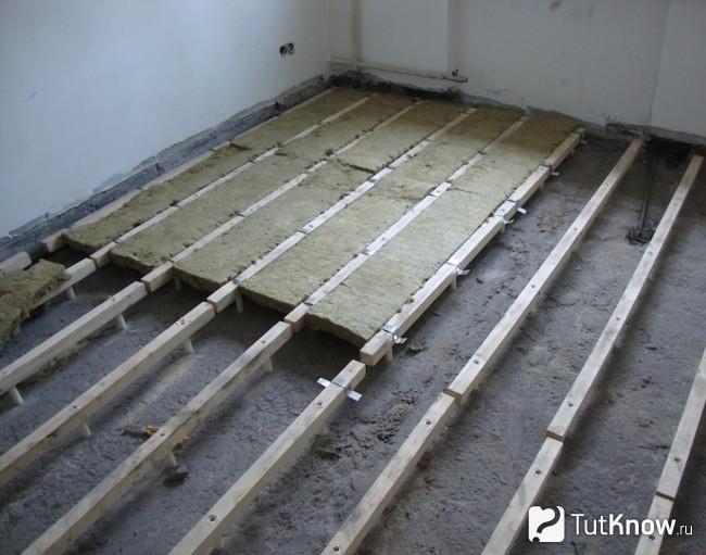 Как утеплять бетонный пол первого этажа